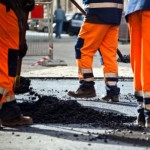 Road construction, workers comp