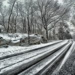 A road in winter, weather related accidents